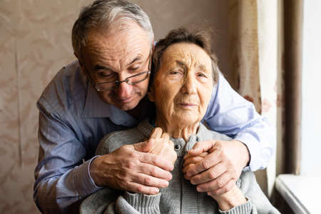 Social Aid For Elderly Person, old man and old mother