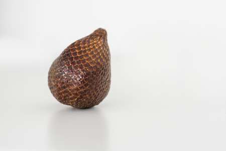 Salak snake fruit isolated on white background with clipping path and full depth of field