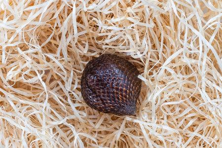 Salak snake fruit Salak on hay background
