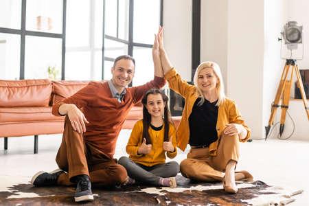 Family spending time together at home Reklamní fotografie
