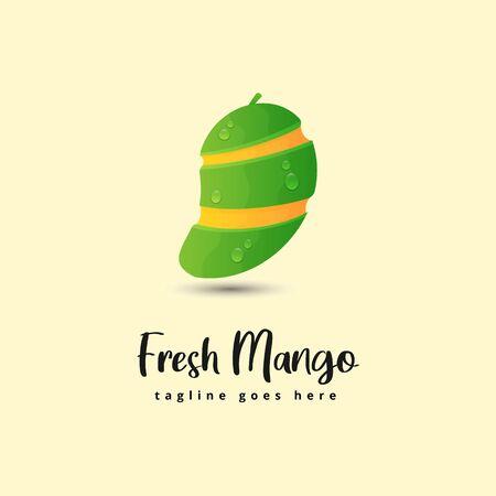 Fresh Mango logo illustration 向量圖像