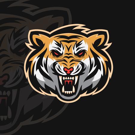 Tigre et logo sport