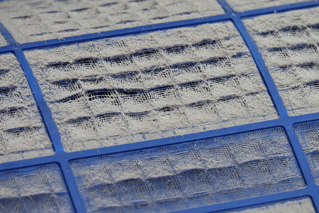 close up of Dust filters are very dirty, close up dust on dust filter
