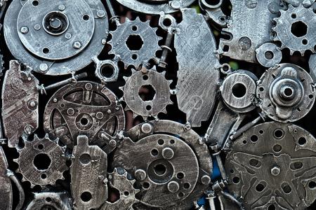 engranes: engranajes mecánicos unen, abstracta unen engranajes Foto de archivo