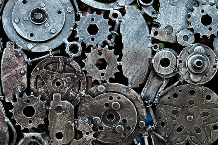 join: mechanical gears join together, abstract join gears