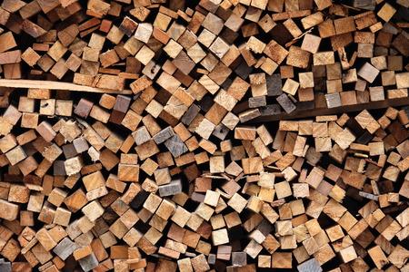 lumber industry: pile of wood, stack of wood