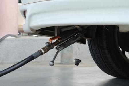 liquefied: filling LPG to car, LPG Liquefied petroleum gas pump