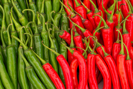 pepper red  green close up Stock Photo