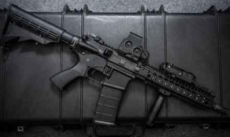 m16 ammo: assult rifle Stock Photo