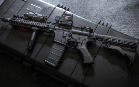 assault rifle: assult rifle Stock Photo