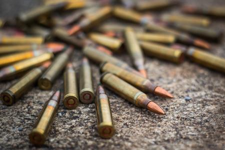 m16 ammo: rifle bullet Stock Photo