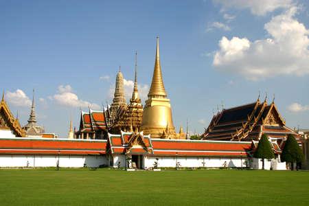 An old Emerald Buddha temple in Bangkok, Thailand