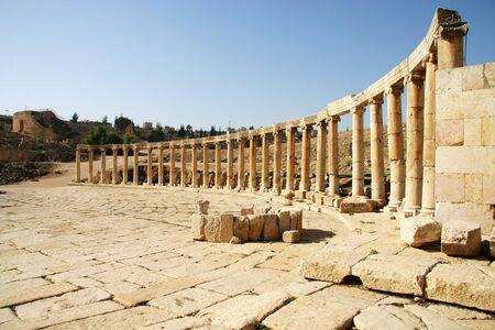 An ancient Greco-Roman Ruin in Jerash, Jordan