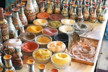 Material for making sand art in Jordan