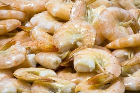 Close up boiled shrimp