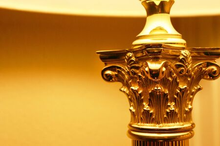 Ancient  Greece Corinthian Design Element in Modern Lamp photo