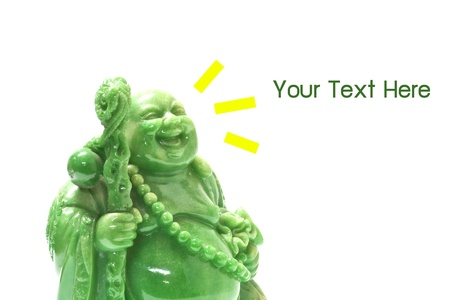 Budai, Chinese Laughing Buddha, with text copy space, close-up Stock Photo