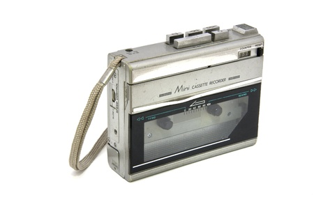 Old Cassette Portable Player   Recorder isolated Stock Photo - 15153046