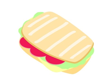 Grilled Cheese Sandwich Vector Stock Vector - 16844624