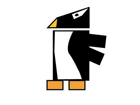Square Penguin Vector Stock Vector - 16879946