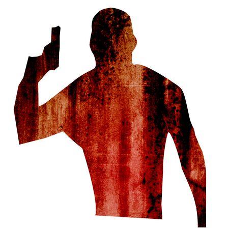 Gun Armed People illustration, silhouette, isolated Stock Illustration - 17310810