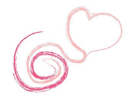 Line of Valentine Heart Vector