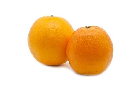 Orange Group of Two isolated on white Stock Photo