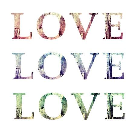 Love Text Grunge Style Texture Illustration Stock Photo