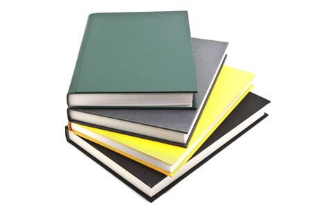Book Pile Up, Hard Cover Isolated
