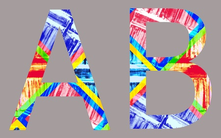 Colorful Vivid a and b Letter, isolated