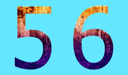 Number Character in Grunge Surface Style Stock Photo - 17603025