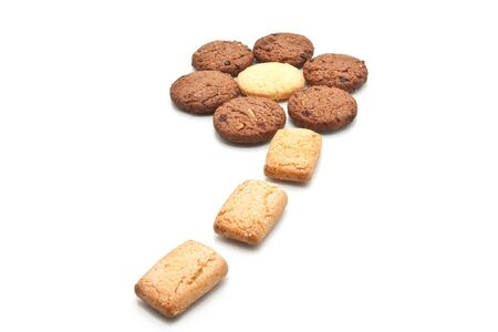 Cookie form in flower shape, isolated Stock Photo - 17798243