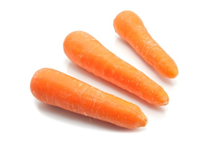 Carrot Group, isolated on white background Stock Photo