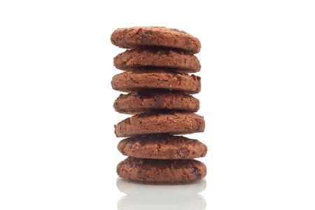 Chocolate Chips Cookie Stack Up Stock Photo - 17798248