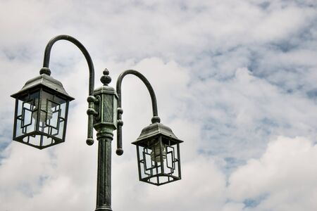 Street lamp on sky background