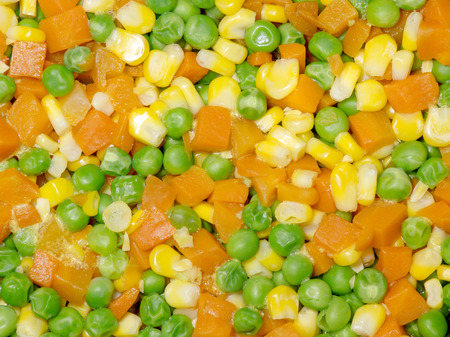 diced: Diced Corn, Carrot and Pea background
