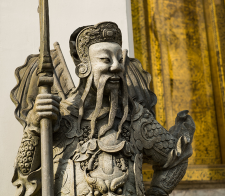 war decoration: A Chinese warrior statue. Most found in Chinese temple. the special of these statue is their face will not the same.