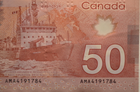 Canadian 50 dollar bill photo