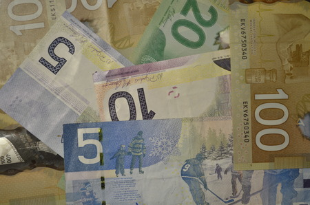 Canadian dollar bills, Canada Money photo