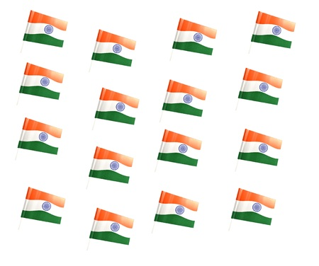 developing country: Indian National Flag isolated on white background