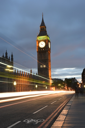 low light: Big Ben or Great Clock Tower or houses of parliament in London, Artistic low light photograph