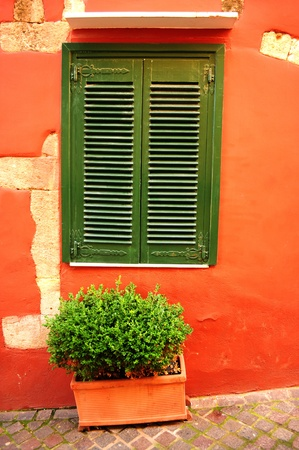 old mediterranean window