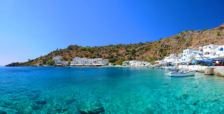 Greek village of Loutro, Crete