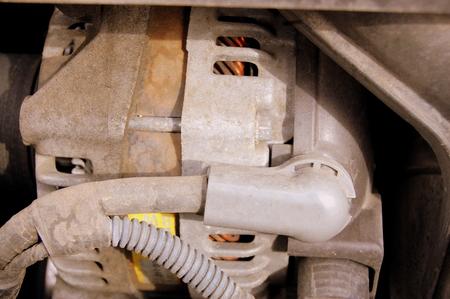 Alternator In A Car Stock Photo