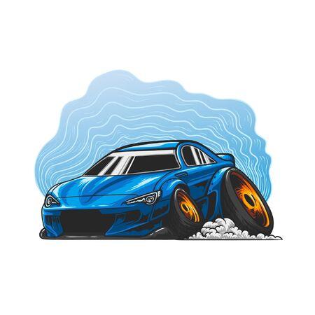 Stance car vector illustration
