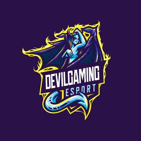 Medusa e sport logo vector illustration