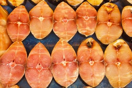 thunnus: fresh herring pieces close up Stock Photo