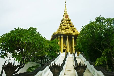 A beautiful temple in thailand photo