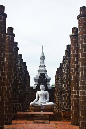 Stock Photo - Buddha statues at the temple of Wat Yai Chai Mongkol in Ayutthaya near Bangkok, Thailand photo