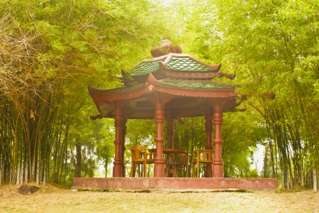 Stock  Photo- Picture of a chinese traditional gloriette Stock Photo